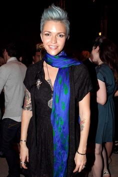 Ruby Rose Fauxhawk - Ruby Rose showed off her awesome faux-hawk. Now this is a faux-hawk done right!