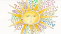 """Sun art - Here comes the sun! """"Sunday Morning"""" sun art - Pictures - CBS News Sun Drawing, Drawing For Kids, Art For Kids, Good Morning Sun, Sunday Morning, Sun Illustration, Landscape Illustration, Pictures Of The Sun, Art Pictures"""