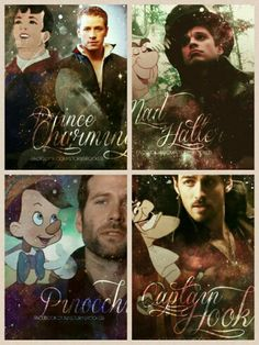 Prince Charming, Mad Hatter, Pinocchio, and Captain Hook Once Upon A Time, Best Tv Shows, Best Shows Ever, Favorite Tv Shows, Pinocchio, True Blood, Buffy, Movies Showing, Movies And Tv Shows