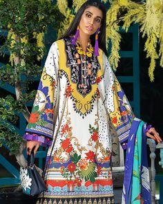 Textile Prints, Textile Design, Dressy Outfits, Pakistani Dresses, Bellisima, Cotton Dresses, Shirt Sleeves, Printed Shirts, Amazing Women