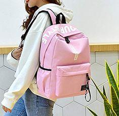 a5019d03cddab DNFC Canvas Schulrucksack Mädchen Jungen Rucksack Fashion Schulranzen  Teenager Schultaschen Freizeitrucksack Mode Kinderrucksack Daypack Backpack  (