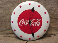 16.5in across. FAB!!!!! Vintage 1948 Coca-Cola Clock   Antique Coke Signs Soda Pop RARE 8118