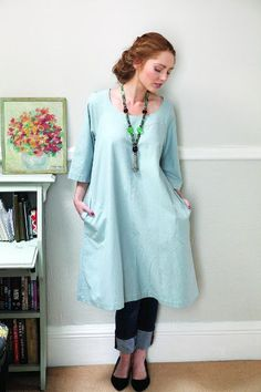 Slouchy Smock Dress from Making magazine free pattern one size
