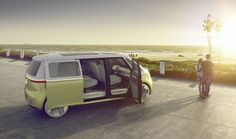 The VW I.D. BUZZ Concept Is the Bus Reincarnated for a Digital Future An autonomous all-wheel drive electric pod to travel the country. The thing about the original VW Bus was that it was a car to enjoy with others. Family friends hitchhikers strangers vagrants animals. It didn't really matter but it was a car that was built around community and travel together. Along with the Beetle the Bus gave VW its quirky friendly reputation that still exists among many. Volkswagen Of course the Beetle