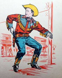 Things Wear Down Photo Vintage, Vintage Images, Vintage Art, Vintage Cartoon, Vintage Stuff, Vintage Items, Jean Giraud, Cowboy Art, Cowboy And Cowgirl