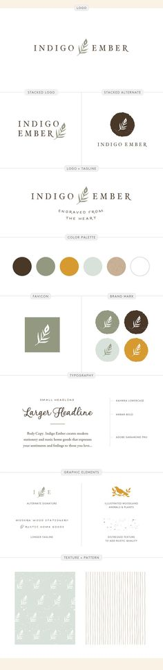 Indigo Ember brand identity design for a gift company by Aeolidia Brand Guide, Brand Style Guide, Web Design Tips, Logo Design Inspiration, Design Ideas, Marca Personal, Personal Branding, Brand Identity Design, Branding Design