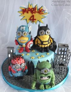 Minion Super Heroes! - Cake by Mother and Me Creative Cakes