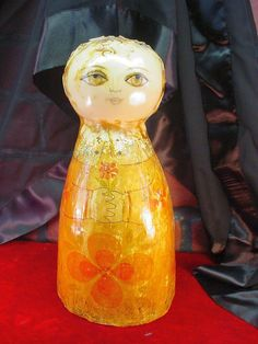 Vintage Original Gemma Taccogna Mexican Folk Art Paper Mache Lady Head Signed | eBay
