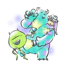 まぶしっ Monsters Inc Characters, Monsters Inc Boo, Monsters Ink, Disney Monsters, Arte Disney, Disney Fan Art, Disney Love, Disney Films, Disney And Dreamworks