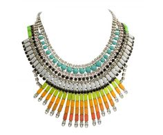 Glamorous aztec style necklace, perfect for s/s 2012. Tom Binns for Jason Wu.