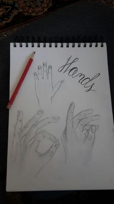 Hands pencil drawing