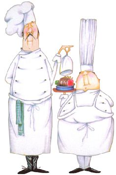 chef.quenalbertini: Two Chef illustration