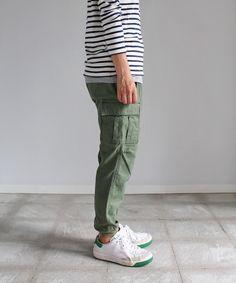 Americana  裾リブ 6ポケカーゴパンツ SARO