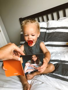 Everything is better mini: photo books AND humans. Photo Books App, Mini Photo Books, Mini Books, Book Subscription, Monthly Photos, Mini Hands, Everything Baby, Book Collection, Minis