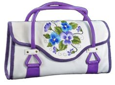 Amy Butler Blossom Handbag Pansies Embroidery - pinned by pin4etsy.com