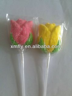 individual rose flower shape marshmallow candy with long stick bouquet . Edible Roses, Flower Shape, Marshmallow, Icing, Bouquet, Candy, Shapes, Flowers, Desserts