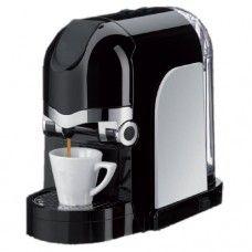 """ALIMENTAZIONE: 220-240V 50/60Hz   POTENZA: 820 - 980W   PRESSIONE POMPA: 20bar   PESO: 3,8 kg    CAPACITA' SERBATOIO: 0,55 litri    SCARICO CAPSULE USATE: AUTOMATICO   Pulsanti di selezione ON/OFF, Caffè """"Lungo"""", Caffè """"Corto""""  Vaschetta capsule usate e serbatoio asportabili                                                              Griglia poggiatazza, cassetto raccogli gocce ed alza tazza per tazza da cappuccino removibili;   COLORE: NERO CON FIANCATE BIANCHE  CAPSULE UTILIZZATE: Capsule"""