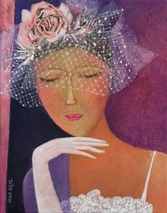 Olga Kost (©2010 artmajeur.com/krakart) Oil & acrylic on canvas.  Love the hat!