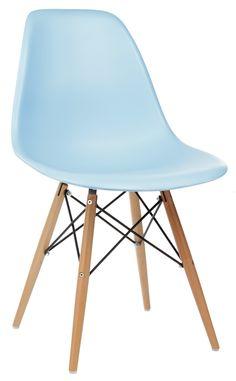 The Matt Blatt Replica Eames DSW Side Chair - Plastic by Charles and Ray Eames - Light blue