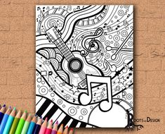 new Ideas doodle art music products Sharpie Drawings, Trippy Drawings, Cool Drawings, Sharpie Doodles, Sharpie Zeichnungen, Dibujos Zentangle Art, Music Doodle, Doodle Art Journals, Zentangle Patterns