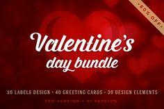Valentine's Day Bundle by Vasya Kobelev on Creative Market