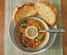 spicy lemon chickpea soup