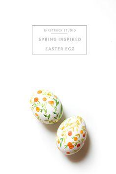 DIY watercolor easter egg