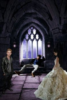 My fan art with Jeremy Irvine as Daniel Grigori, Harrison Gilbertson as Cam Briel and Addison Timlin as Lucinda Price in Fallen Saga by Lauren Kate.