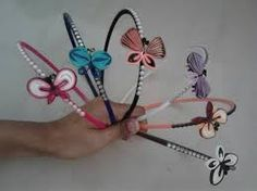 quilling hair accessories - Google Search
