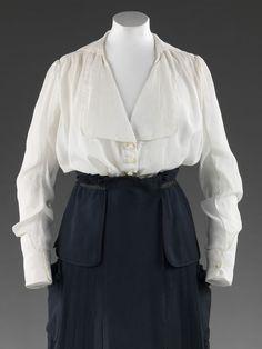 1915, United Kingdom - Blouse - Starched cotton lawn