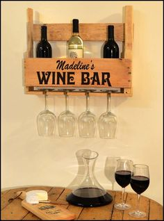 Half Pallet Bottle and Glasses Shelf   What a cool way to store, display your Missouri wine!