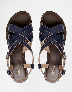 Immagine 3 di Park Lane - Sandali piatti di pelle con cinturino alla caviglia