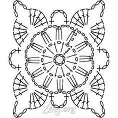 Transcendent Crochet a Solid Granny Square Ideas. Inconceivable Crochet a Solid Granny Square Ideas. Crochet Snowflake Pattern, Crochet Motif Patterns, Crochet Blocks, Granny Square Crochet Pattern, Crochet Diagram, Crochet Squares, Crochet Chart, Crochet Granny, Crochet Doilies