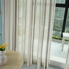 Linen voile tulle drapes Made ready window curtains sheer curtain bedroom shade…