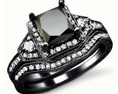 Black Diamond Ring, very pretty and unique. My next husband should buy me this or I will not marry him....ha ha