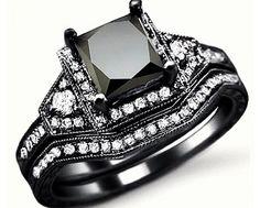 Black Diamond Ring, very pretty and unique.