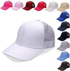 e17fd77796e NeuFashion Ponycap Messy High Bun Ponytail Adjustable Mesh Trucker Baseball  Cap Hat at Amazon Women s Clothing store