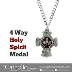 """This gift was a favorite for our eldest son when he received his Confirmation, and our second son asked specifically for the same medal this year when he received his Confirmation. They both enjoy this medal and wear it almost everyday!""    Lynne from Chesapeake, VA reviews our Four-Way Holy Spirit Medal."