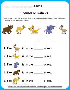 Ordinal Numbers Worksheet for Grade 1 - Your Home Teacher