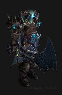 Unholy Death Knight Apocalypse Transmog Set - Herald of Pestilance Skin with Blue Tint Transmog. WoW Legion.