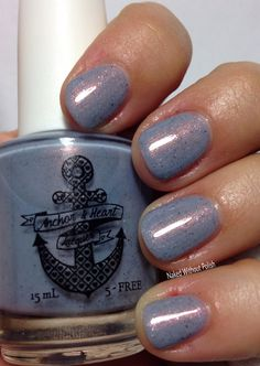 Anchor & Heart Lacquer Winter's Shimmer in direct light @tarynjshaw