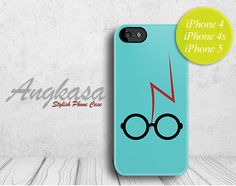 HARRY POTTER - IPHONE 4 CASE, IPHONE 4S CASE, IPHONE 5 CASE - SCAR AND GLASSES