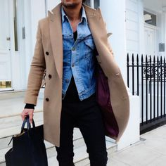 layers // menswear, mens style, fashion, camel coat, topcoat, overcoat, street style