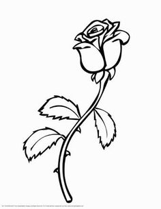Free Printable Roses Coloring Pages For Kids | gift ideas ...