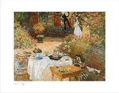 """""""Le Déjeuner""""  Claude MONET 1873  Musée d'Orsay, Paris"""