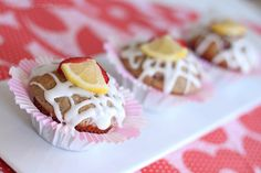 Strawberry Lemon Yogurt Muffins. To die for!! via Inspired by Charm and WhipperBerry