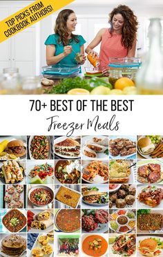 Look no further for easy, delicious make ahead freezer meals. This amazing round up 70  freezer friendly recipes was created by freezer cooking experts and cookbook authors. They have handpicked the best of the best of their freezer meals, organized them by category, and even provide freezer cooking tips