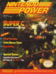 Nintendo Power issue 12. It's total bullshit that Konami changed the up-up, down-down code for Super C, bro. #thanksbro www.thanks-bro.com