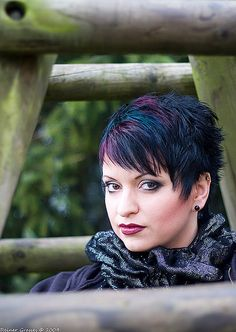 Funky pixie by martin.hairlover, via Flickr