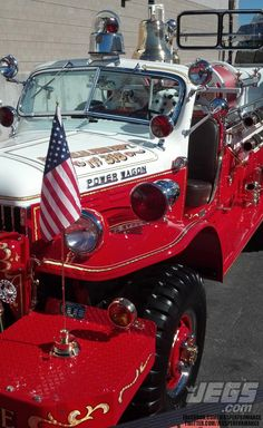 A Nicely Restored Dodge Fire Truck We Saw Outside The SEMA Show.